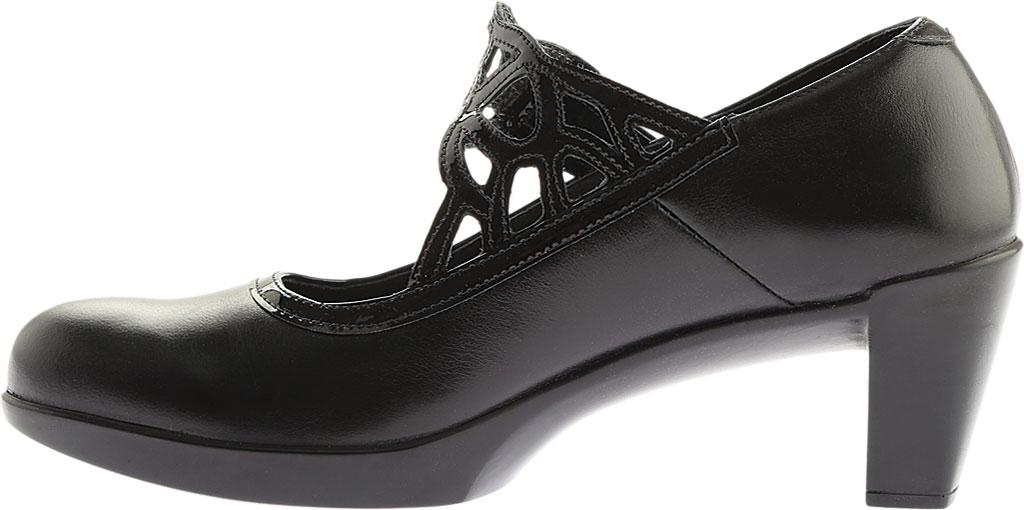 Women's Naot Luma, Black Madras Leather/Crinkle Patent Leather, large, image 3