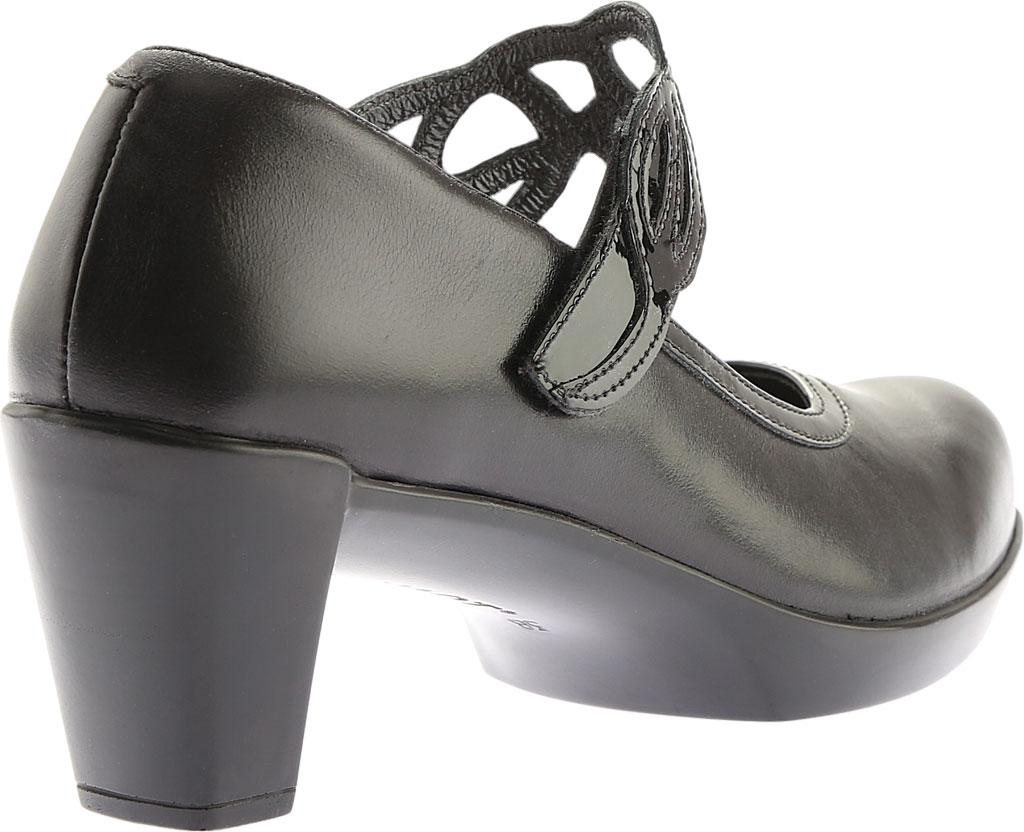 Women's Naot Luma, Black Madras Leather/Crinkle Patent Leather, large, image 4