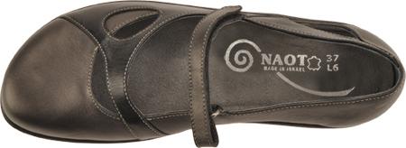 Women's Naot Taranga, Black Madras Leather/Metallic Road Leather, large, image 6
