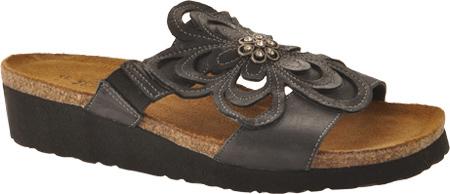 Women's Naot Sandy, Brushed Black Leather, large, image 1