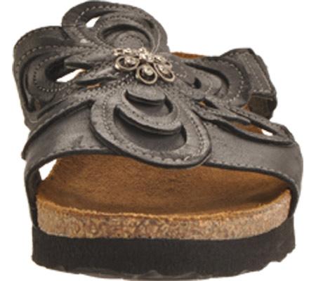 Women's Naot Sandy, Brushed Black Leather, large, image 4