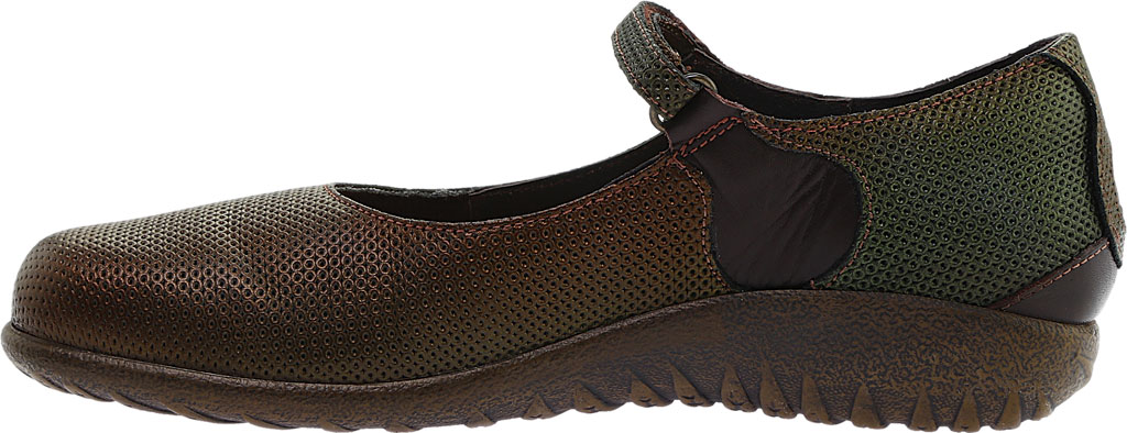 Women's Naot Reka, Rattlesnake Brown/French Roast Leather, large, image 3