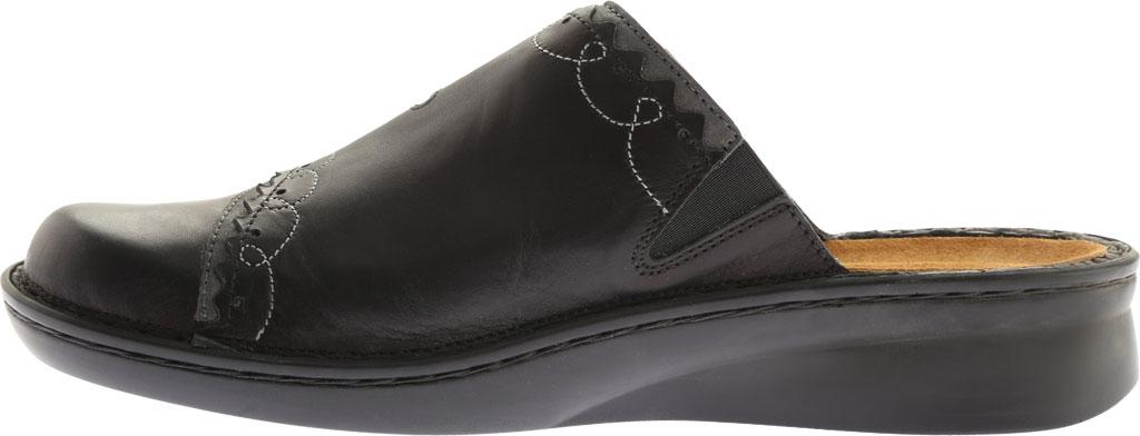 Women's Naot Encore, Black Raven Leather/Shadow Gray Nubuck, large, image 3