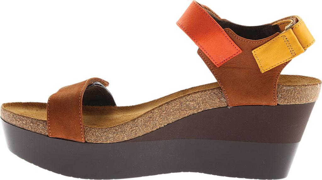 Women's Naot Miracle, Hawaiian Brown Nubuck/Orange/Sunshine Leather, large, image 3