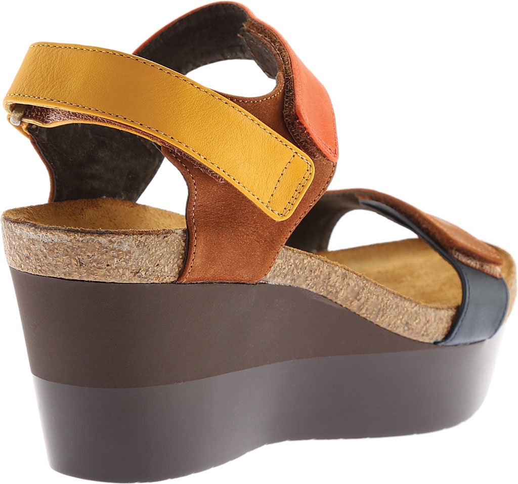 Women's Naot Miracle, Hawaiian Brown Nubuck/Orange/Sunshine Leather, large, image 4