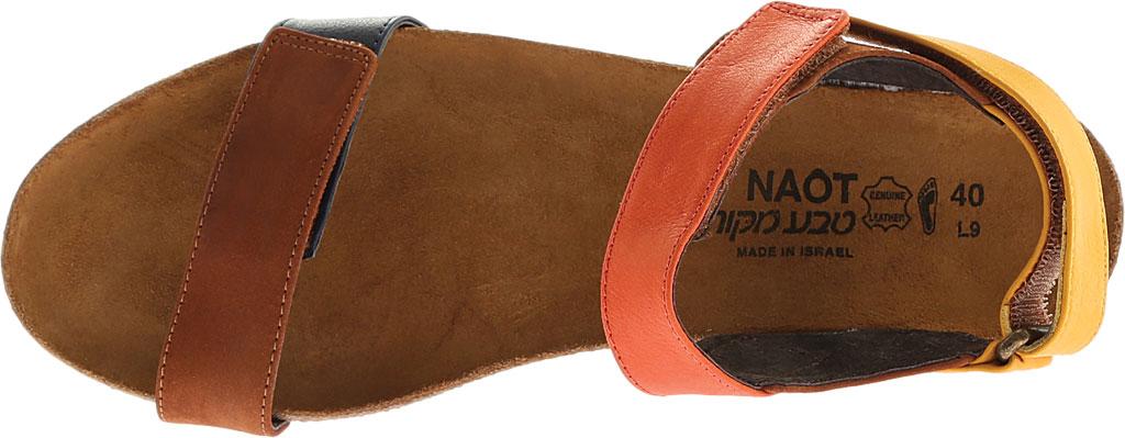 Women's Naot Miracle, Hawaiian Brown Nubuck/Orange/Sunshine Leather, large, image 5