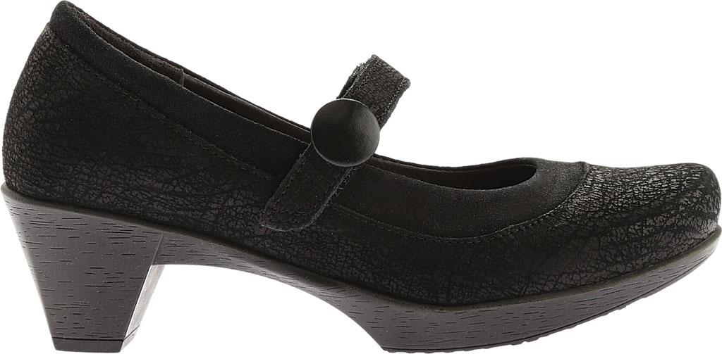 Women's Naot Latest, Black Crackle Leather/Shiny Black Leather, large, image 2