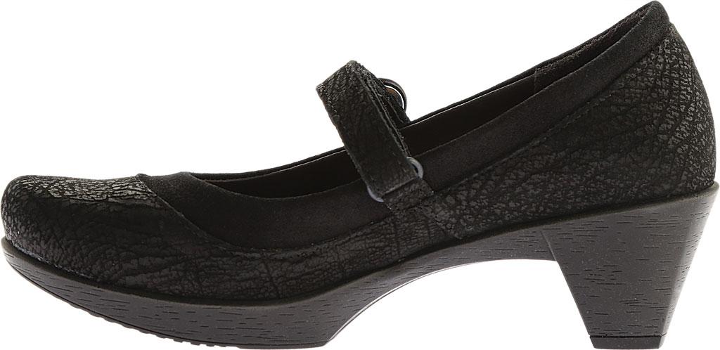 Women's Naot Latest, Black Crackle Leather/Shiny Black Leather, large, image 3