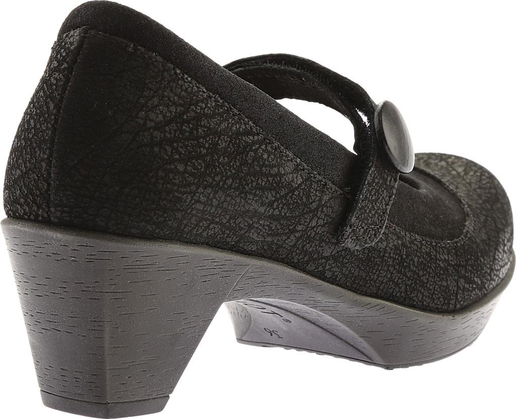 Women's Naot Latest, Black Crackle Leather/Shiny Black Leather, large, image 4