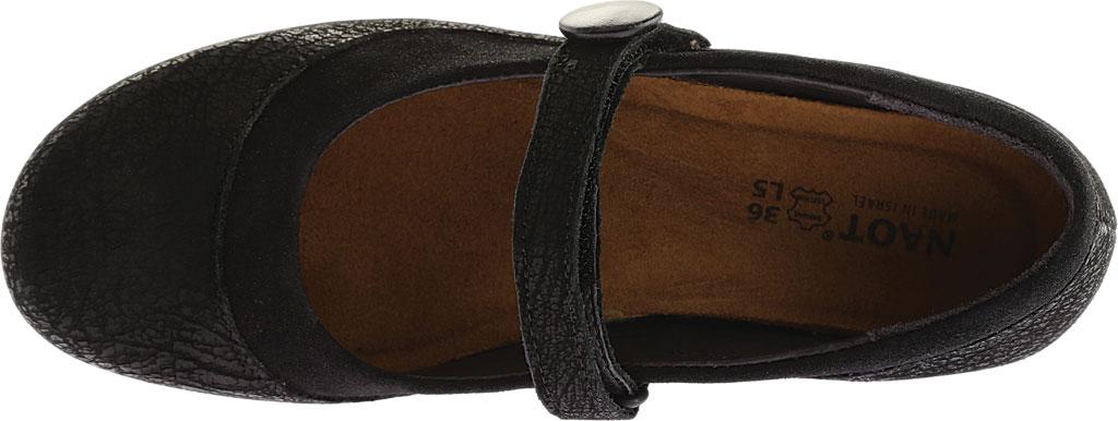 Women's Naot Latest, Black Crackle Leather/Shiny Black Leather, large, image 5