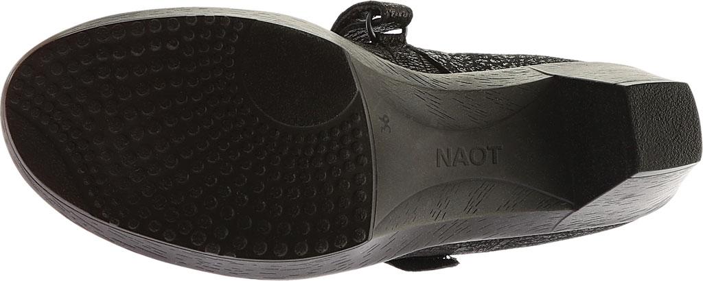 Women's Naot Latest, Black Crackle Leather/Shiny Black Leather, large, image 6
