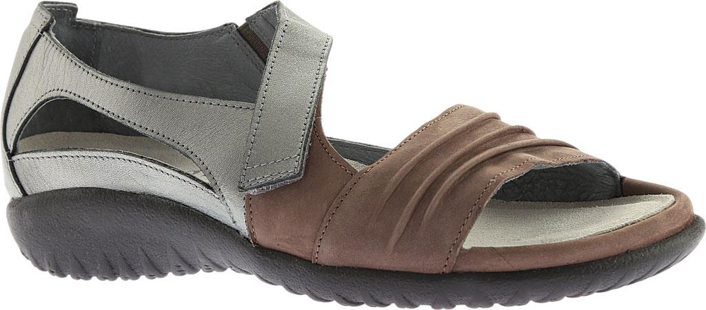 Women's Naot Papaki Sandal, Shiitake Nubuck/Sterling Leather, large, image 1