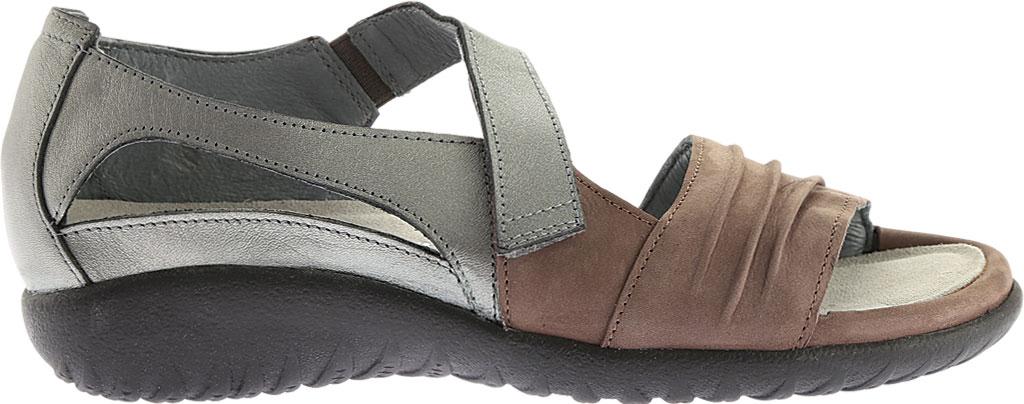 Women's Naot Papaki Sandal, Shiitake Nubuck/Sterling Leather, large, image 2