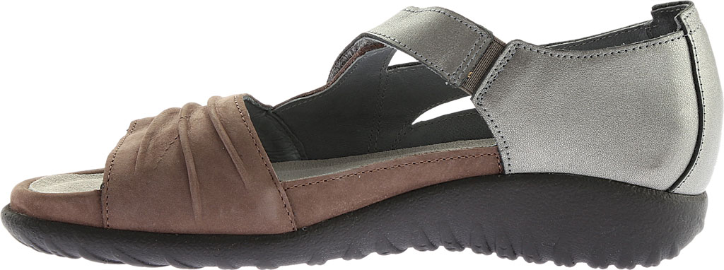 Women's Naot Papaki Sandal, Shiitake Nubuck/Sterling Leather, large, image 3