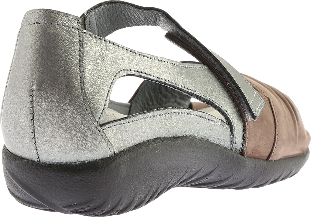 Women's Naot Papaki Sandal, Shiitake Nubuck/Sterling Leather, large, image 4