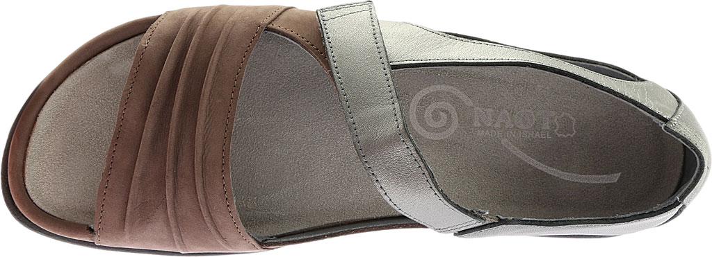 Women's Naot Papaki Sandal, Shiitake Nubuck/Sterling Leather, large, image 5