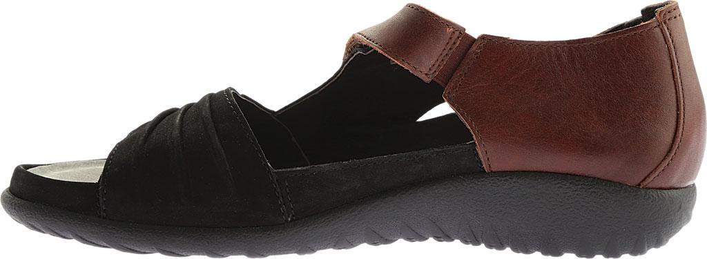 Women's Naot Papaki Sandal, Stone/Beige Nubuck/Lizard Leather, large, image 3