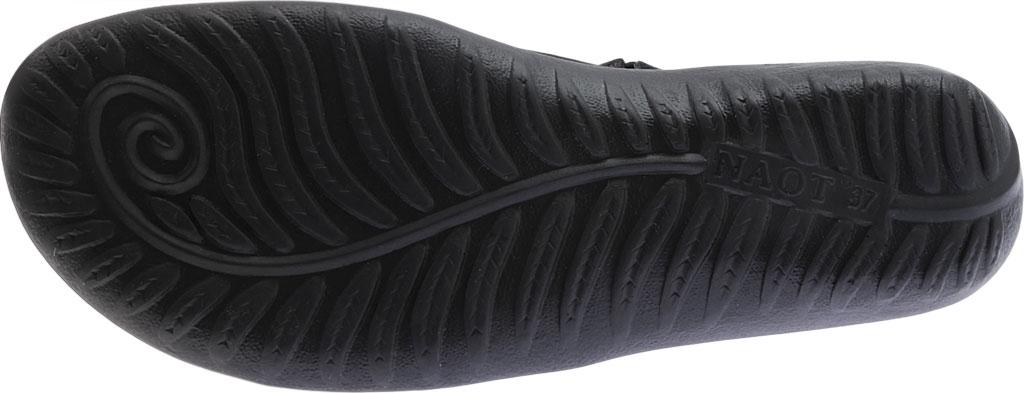 Women's Naot Papaki Sandal, Black Patent Leather/Velvet Nubuck, large, image 6