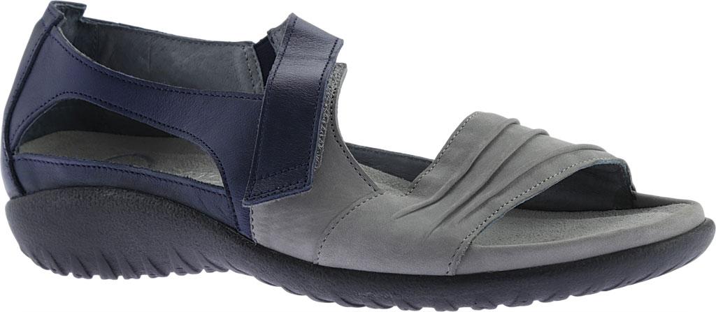 Women's Naot Papaki Sandal, Light Gray Nubuck/Polar Sea Leather, large, image 1