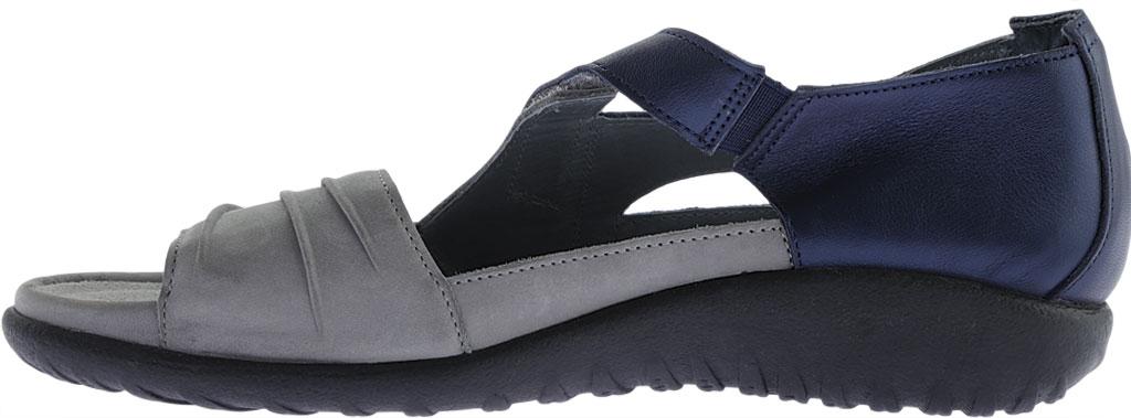 Women's Naot Papaki Sandal, Light Gray Nubuck/Polar Sea Leather, large, image 3
