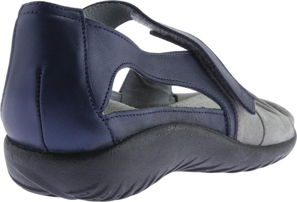 Women's Naot Papaki Sandal, Light Gray Nubuck/Polar Sea Leather, large, image 4