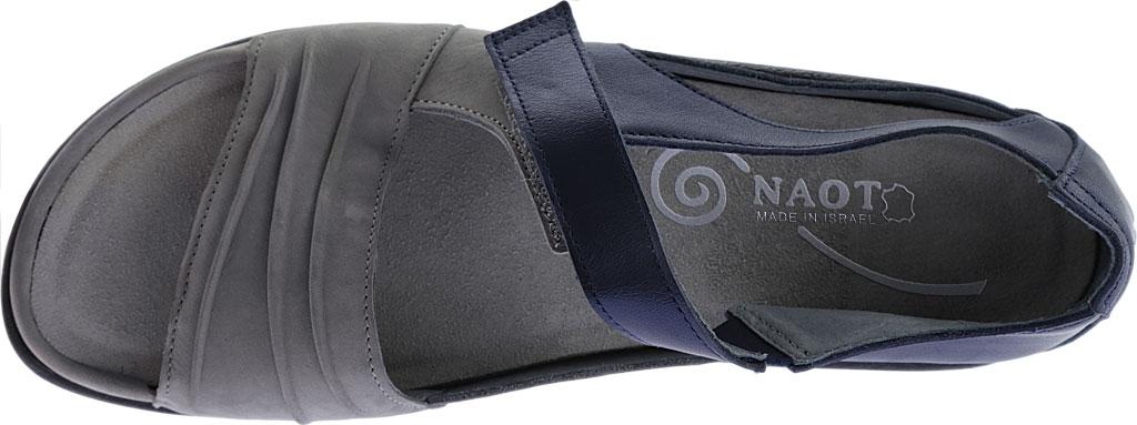 Women's Naot Papaki Sandal, Light Gray Nubuck/Polar Sea Leather, large, image 5