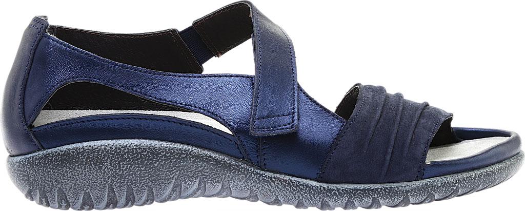 Women's Naot Papaki Sandal, Navy Velvet/Nubuck Leather/Polar Leather, large, image 2