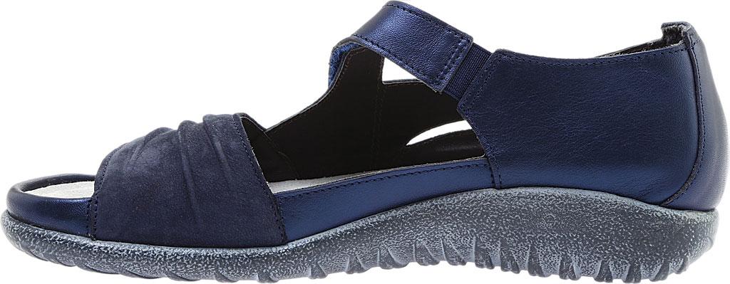 Women's Naot Papaki Sandal, Navy Velvet/Nubuck Leather/Polar Leather, large, image 3