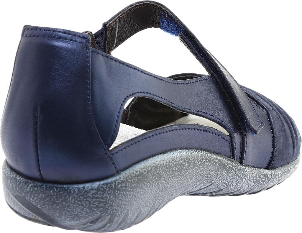 Women's Naot Papaki Sandal, Navy Velvet/Nubuck Leather/Polar Leather, large, image 4