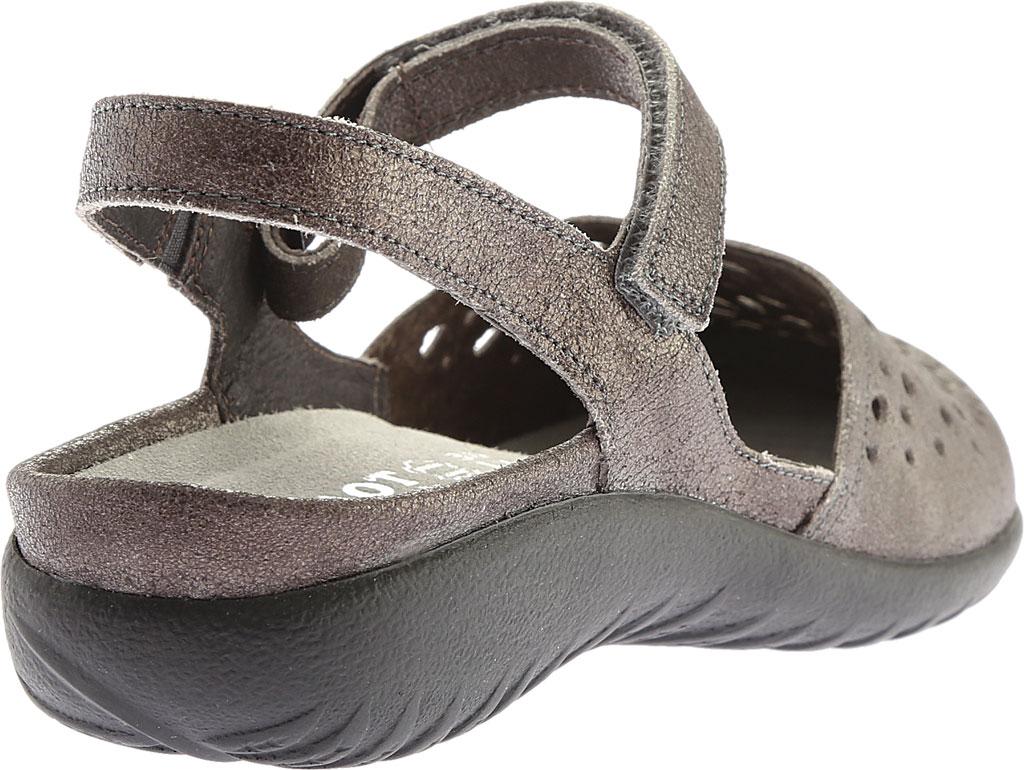 Women's Naot Arataki, Gray Shimmer Leather, large, image 4