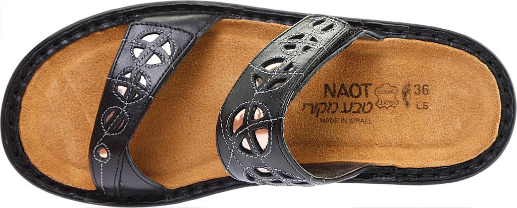 Women's Naot Cornet, Black Raven Leather/Glass Silver Leather, large, image 5
