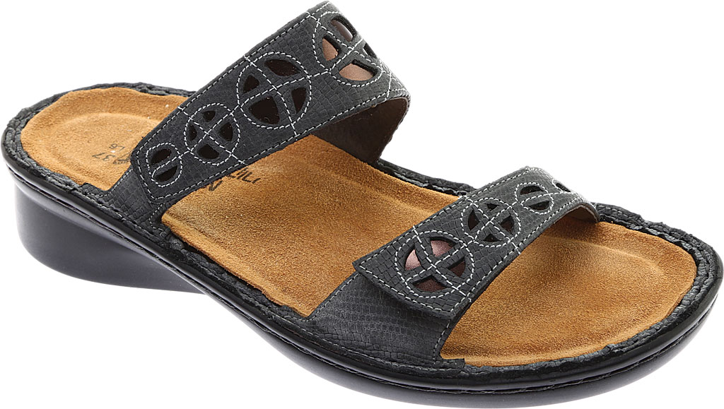 Women's Naot Cornet, Reptile Grey Leather/Glass Brown, large, image 1