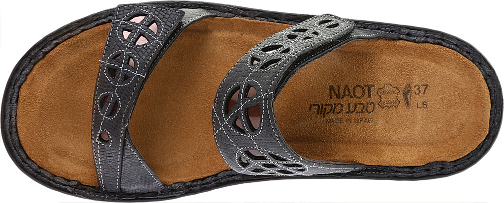 Women's Naot Cornet, Reptile Grey Leather/Glass Brown, large, image 5