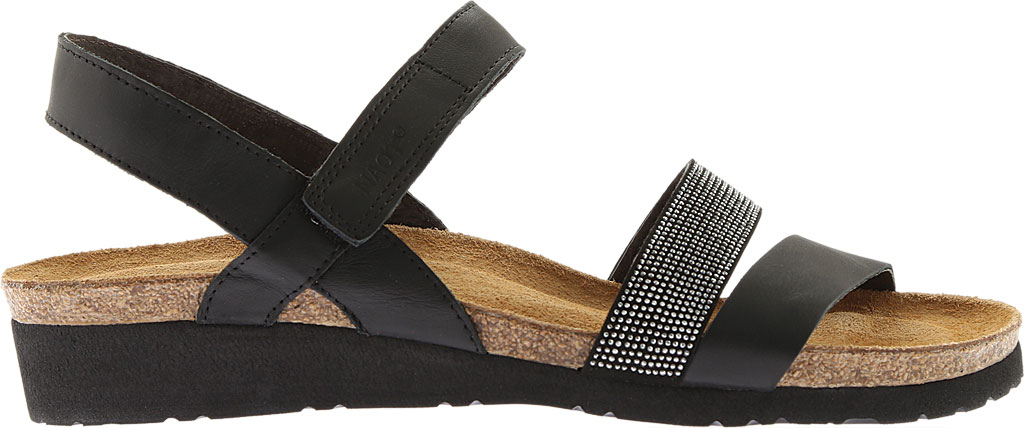 Women's Naot Krista Strappy Wedge Sandal, Black Matte Leather, large, image 2