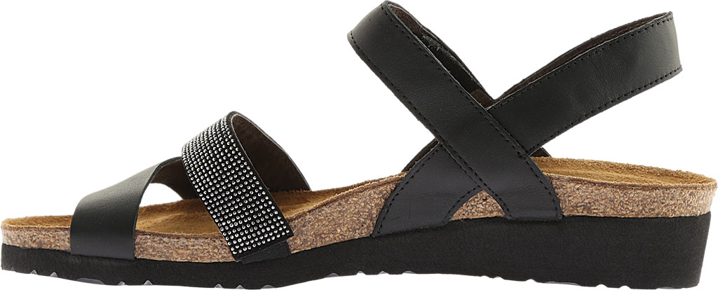 Women's Naot Krista Strappy Wedge Sandal, Black Matte Leather, large, image 3