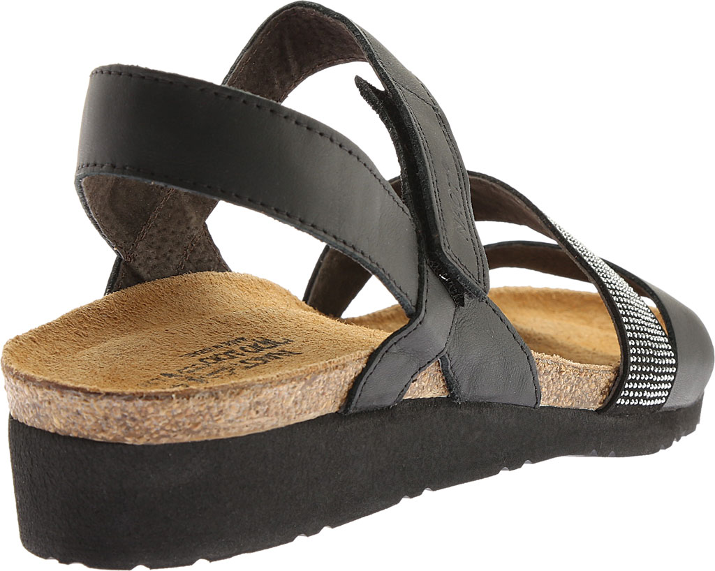 Women's Naot Krista Strappy Wedge Sandal, Black Matte Leather, large, image 4