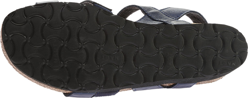 Women's Naot Krista Strappy Wedge Sandal, Polar Sea Leather/Dark Blue with Nickel Rivets, large, image 6