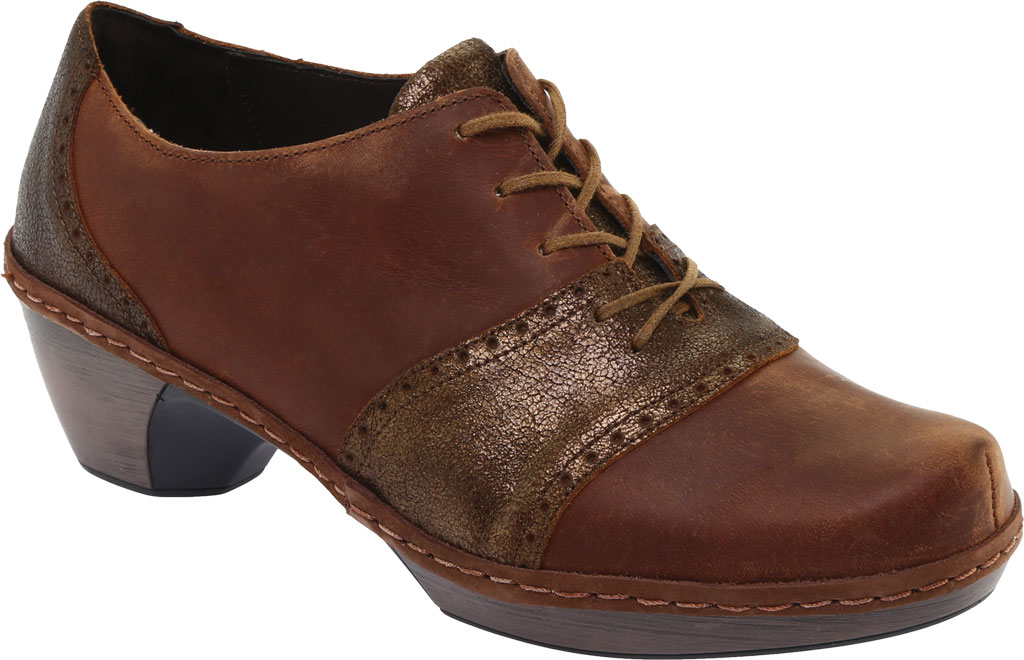 Women's Naot Besalu Oxford, Bronze Shimmer Suede/Crazy Horse Leather, large, image 1