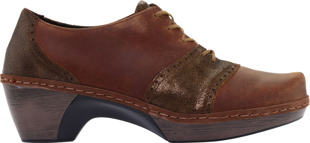 Women's Naot Besalu Oxford, Bronze Shimmer Suede/Crazy Horse Leather, large, image 2