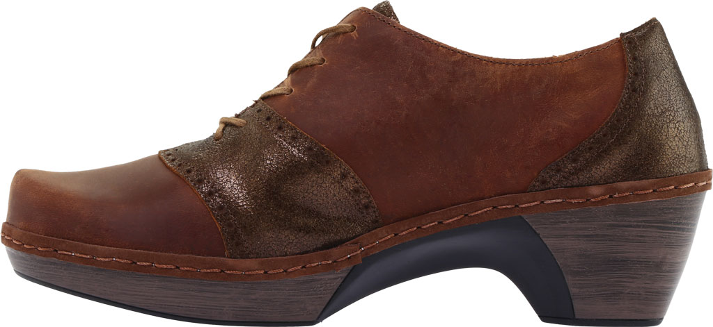 Women's Naot Besalu Oxford, Bronze Shimmer Suede/Crazy Horse Leather, large, image 3