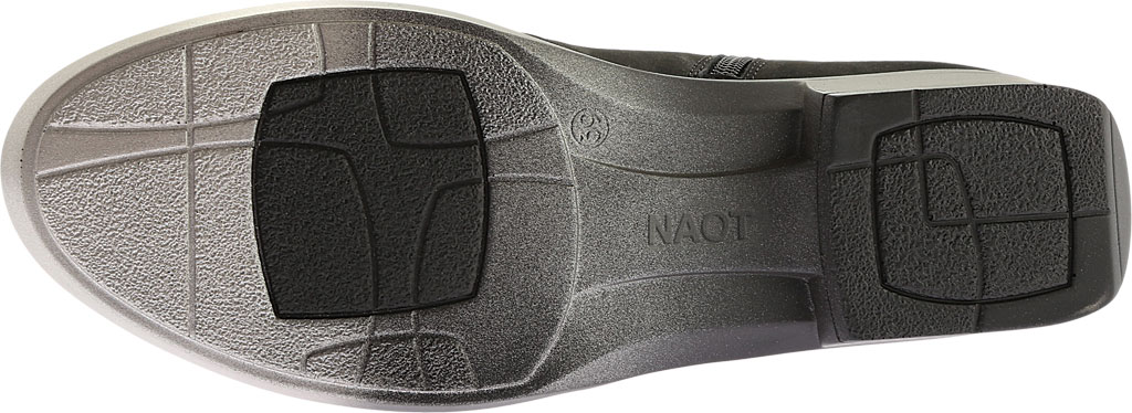 Women's Naot Vardar Rhinestone Strap Bootie, Black Madras Leather/Black Velvet Nubuck, large, image 6
