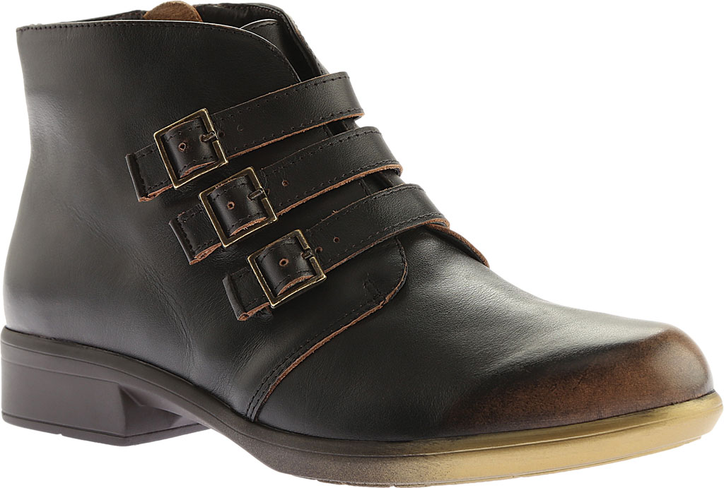 Women's Naot Calima Buckle Bootie, Volcanic Brown Leather, large, image 1