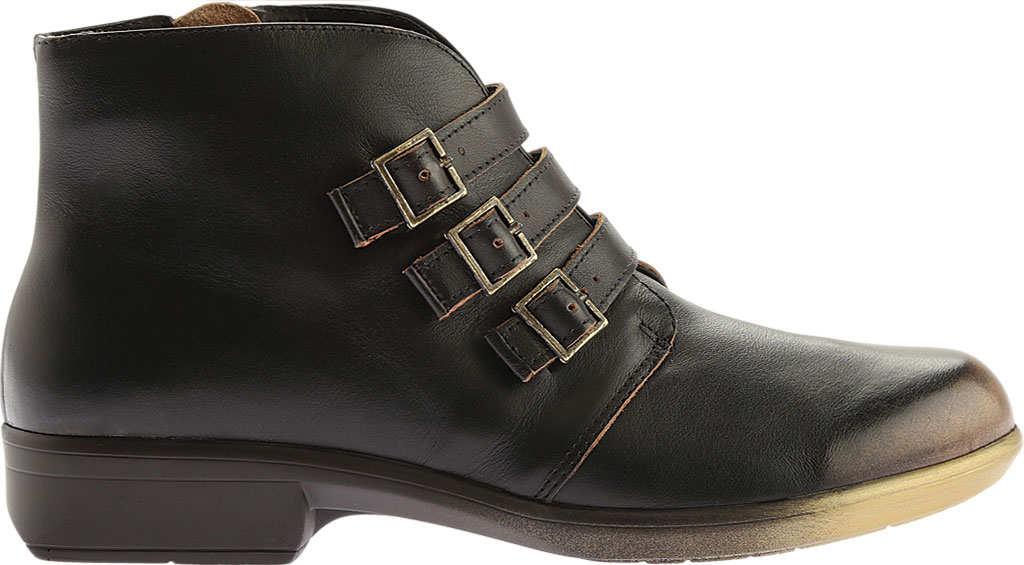 Women's Naot Calima Buckle Bootie, Volcanic Brown Leather, large, image 2
