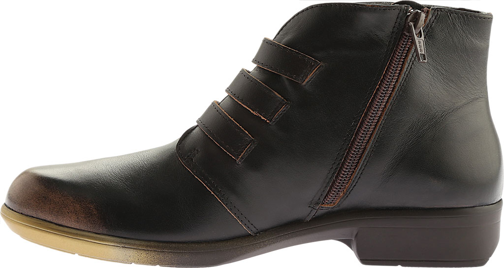 Women's Naot Calima Buckle Bootie, Volcanic Brown Leather, large, image 3