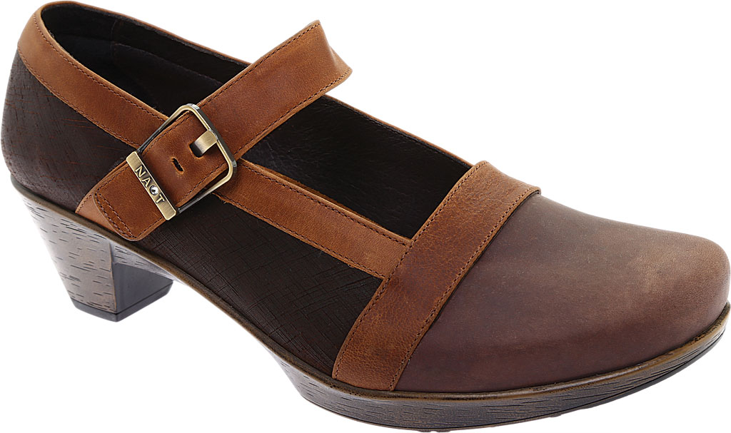 Women's Naot Dashing Mary Jane, Brown Haze Leather/Mine Brown/Saddle Brown Leather, large, image 1