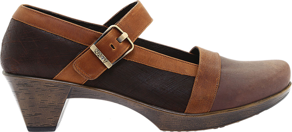 Women's Naot Dashing Mary Jane, Brown Haze Leather/Mine Brown/Saddle Brown Leather, large, image 2