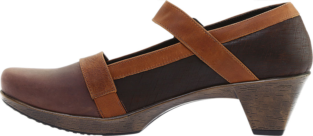 Women's Naot Dashing Mary Jane, Brown Haze Leather/Mine Brown/Saddle Brown Leather, large, image 3