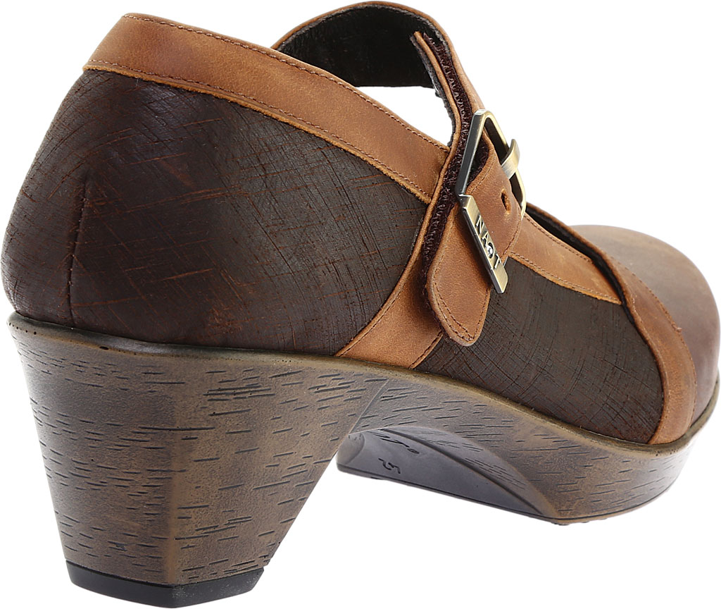 Women's Naot Dashing Mary Jane, Brown Haze Leather/Mine Brown/Saddle Brown Leather, large, image 4