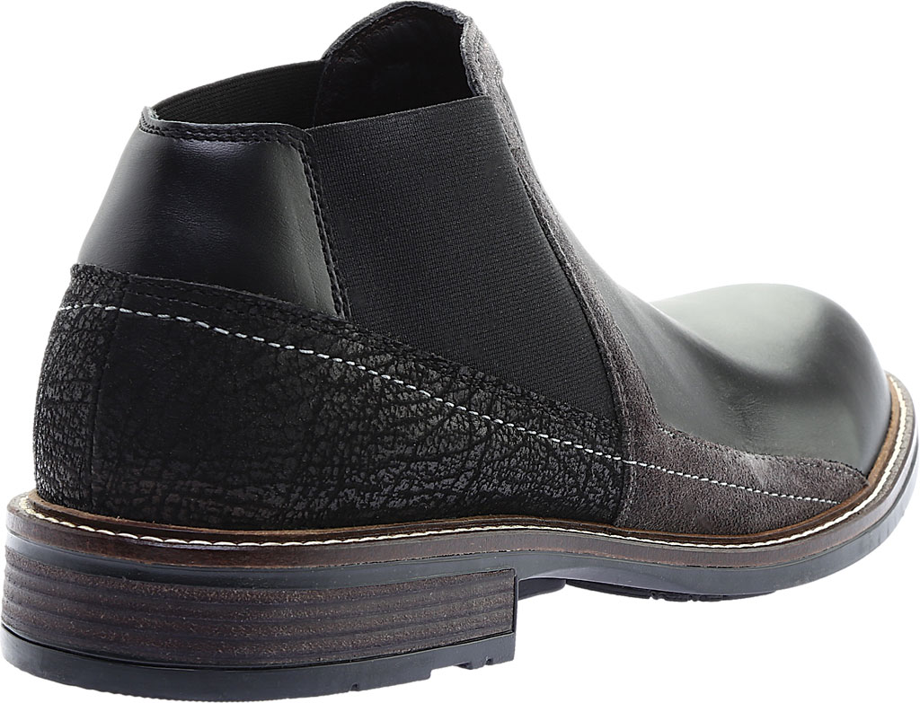 Men's Naot Business Chelsea Boot, Black Raven Leather/Black Crackle Leather, large, image 4