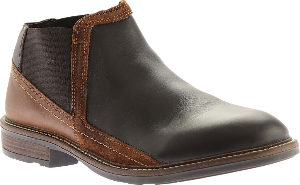 Men's Naot Business Chelsea Boot, French Roast Leather/Saddle Brown Leather, large, image 1